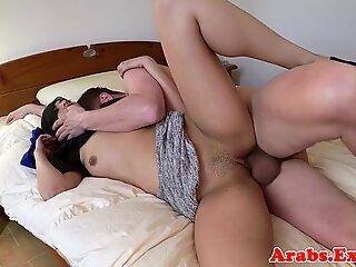 Exotic veiled muslim lady fucked balls deep