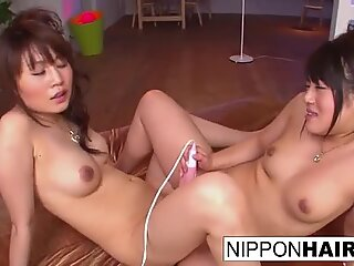 Japanese models have some lesbian fun