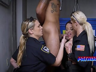 Kinky cops playing with fat boner