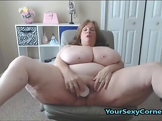 BBW granny Has The thickest inborn Saggy Tits In USA