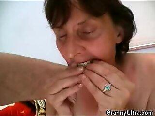 Filthy Granny enjoys a rough Fucking