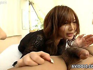 Karen Miyajima performs hot oral sex skills in an awesome AvIdolz video