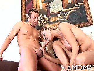 That babe likes cock in face hole and twat