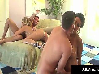 Mega milfs Julia Ann & Lisa Ann in A Fuckin humungous jugged 4way!