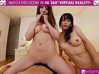 VRBangers Hot Japanese Step Mom Teach Her Teen Daughter How to Ride a Cock and Blow