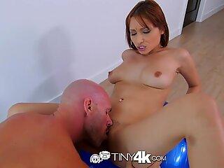 Tiny4K - Petite Adessa Winters gets a taste of J Mac'_s monster dick