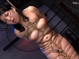 Asian vagina Ayaka Shintani corded in shibari and violently whipped until she screams.WMV