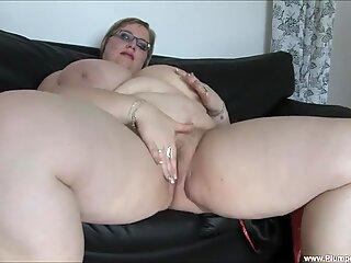 BBW Gertruda Plays with Herself