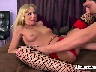 Mature blonde skank ass-fucked