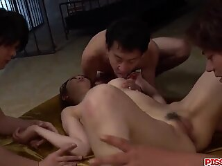 Perfect group sex for thirsty Asian Air - More at Pissjp.com