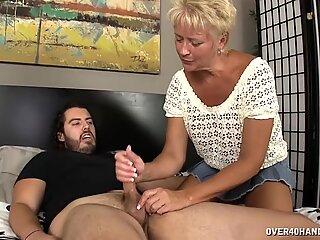 Mature Blonde Rubs Tiny Dick - Tracy Licks