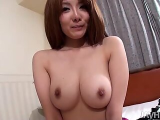 Adorable college girl Yuna Hirose masturbates her pussy