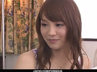Maomi Nakazawa gives the hottest asian blowjobs