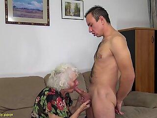 91 years old mom deep banged