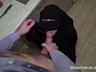 Hairy muslim wife was punished by hard sex