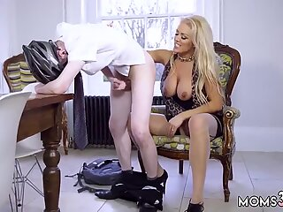 Blond milf smoking sex and undressing webcam Having Her Way With A Rookie - Rebecca Jane Smythe