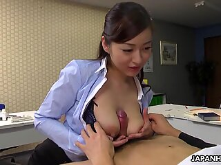 Japanese office lady, Maria Ono is naughty, uncensored