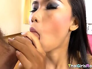 Skinny Thai angel gets her hairy muff ploughed