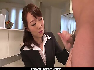 Perfect scenes of blowjob from mature Hitomi Oki - More at javhd.net