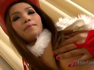 Christmas bare chinese chicks
