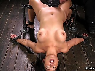Hot ass Asian in doggy device gets bastinado - Jezebelle Bond
