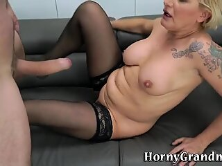 Feet fucked grandmother