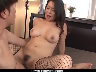 Busty MILf tries all possible positions before swallowing - More at Japanesemamas.com