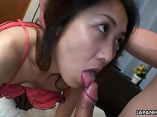 Mature Asian gets fucked doggy style from the rear