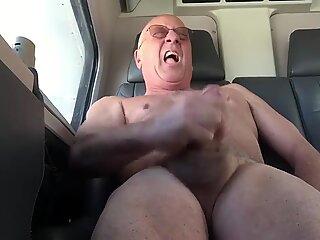 Masturbating
