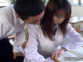 Cute Japanese student Ai Yumemi gets seduced by her teacher