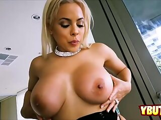 Lovely blonde chick craving for big cock