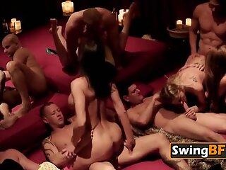 Stiff dicks pounding smoking hot girls